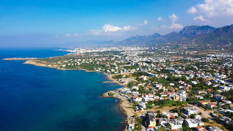 northern cyprus coast aerial view