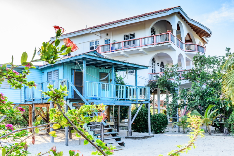 home in Placencia, Belize.