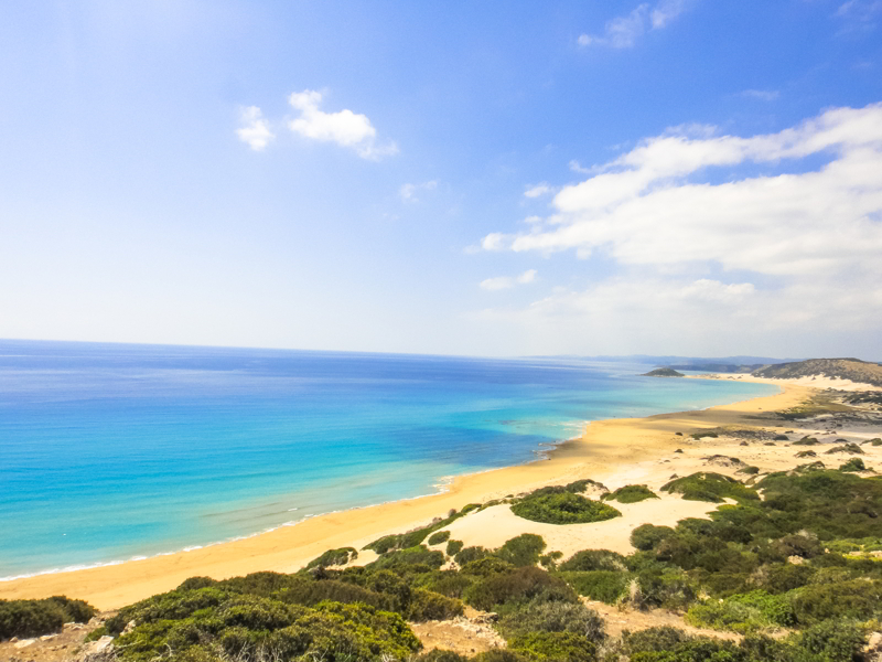 Golden beach of Northern Cyprus.