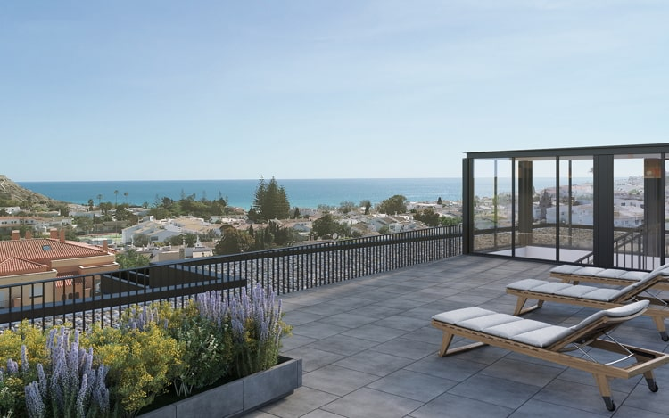 Terrace view in Independent living apartment in Portugal