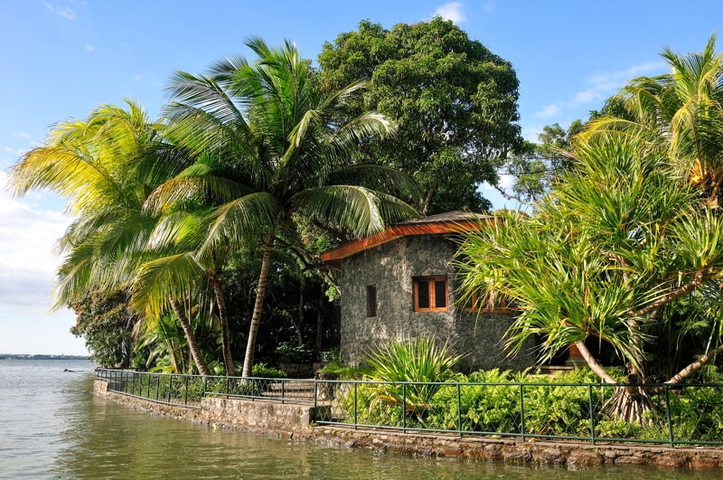 Stone house in Las Isletas, Granada, Nicaragua.