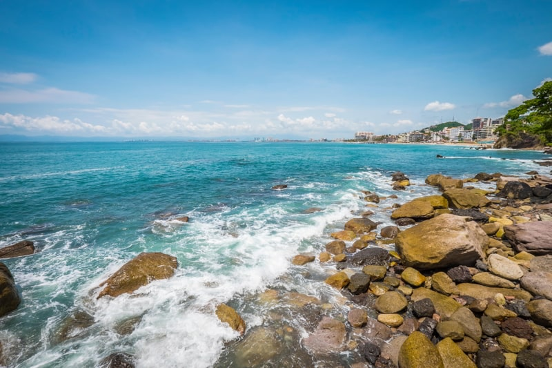 Amapas Beach, Conchas Chinas Area, Puerto Vallarta, Mexico.