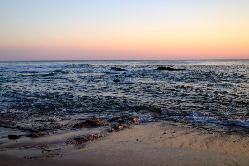 Beautiful Sunrise at stunning beach in Nicaragua.