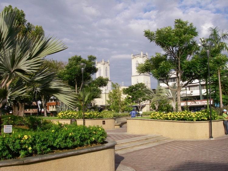 A park in David, Chiriqui in Panama