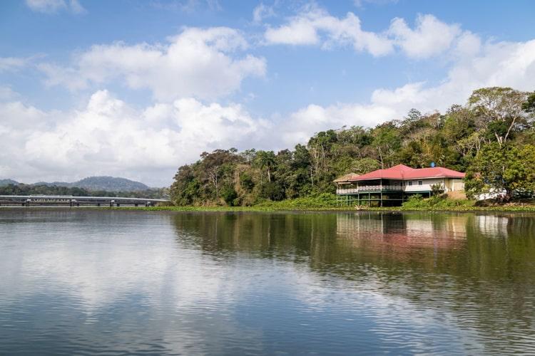 A house in Lake Gatun in Panama