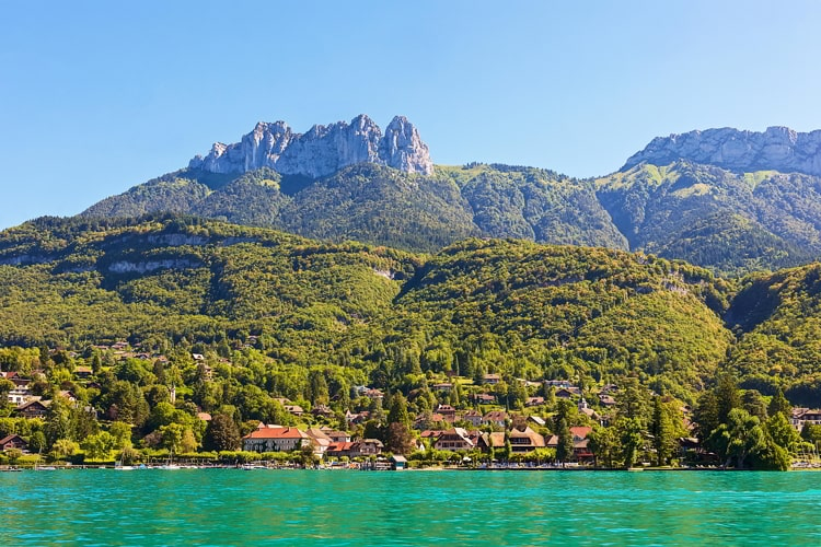 Lake Annecy and Mountain Range, Annecy, France