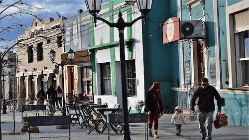 Stores in La Cumbre town in Argentina